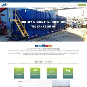 Screen capture of Advanced Vacuum Services website
