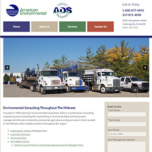 Screen capture of American Environmental Corporation website