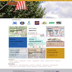 Screen capture of Batesville Area Chamber of Commerce website