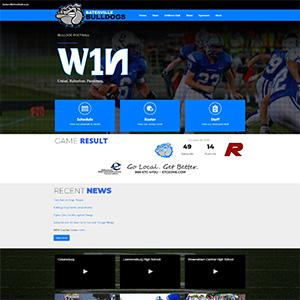 Screen capture of Batesville Bulldogs Football website