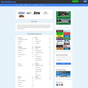 Screen capture of Batesville Online website
