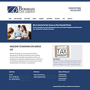 Screen capture of Bohman CPA Group website