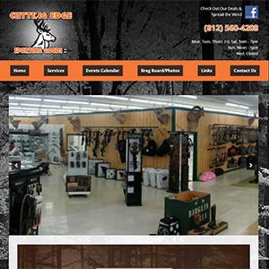 Screen capture of Cutting Edge Sporting Goods website