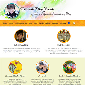 Screen capture of Deanna Day Young website