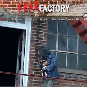 Screen capture of Fear Factory website