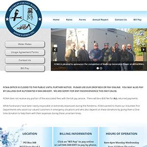 Screen capture of Franklin County Water Association website