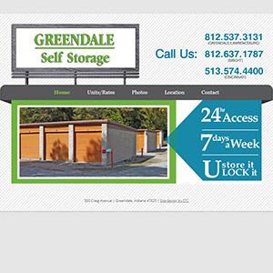 Screen capture of Greendale Self Storage website