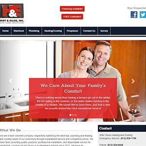 Screen capture of Hirt & Ellco website