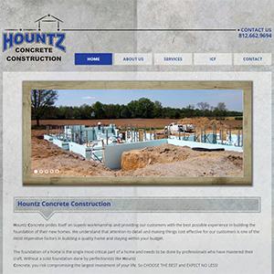 Screen capture of Hountz Concrete website