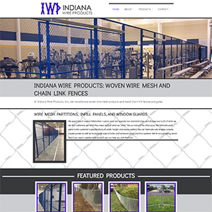Screen capture of Indiana Wire Products website