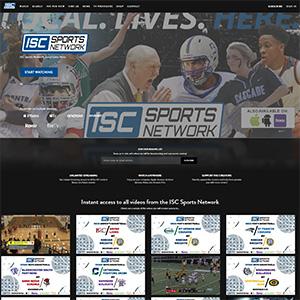 Screen capture of ISC Sports Network website