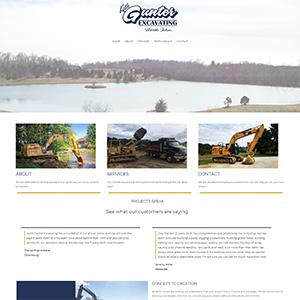 Screen capture of Keith Gunter Excavating website
