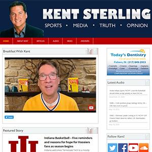 Screen capture of Kent Sterling website