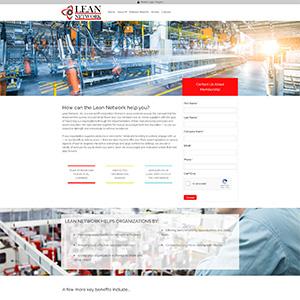 Screen capture of Lean Network website