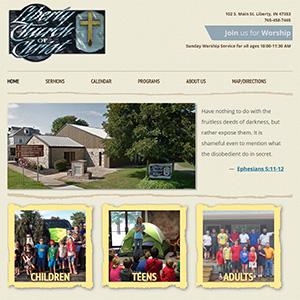 Screen capture of Liberty Church of Christ website