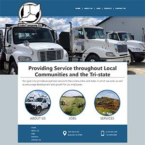 Screen capture of Linkel Company website
