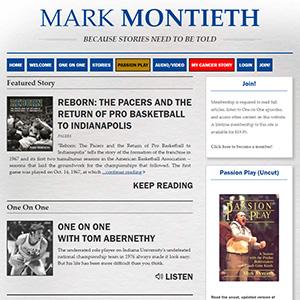 Screen capture of Mark Montieth website