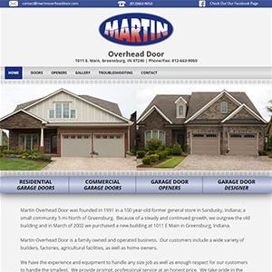 Screen capture of Martin Overhead Door website