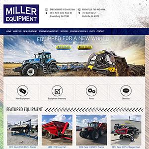 Screen capture of Miller Equipment website