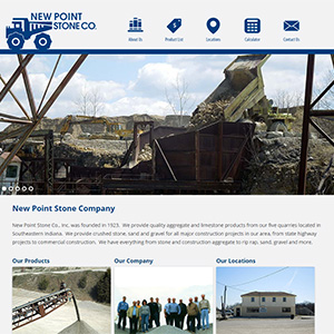 Screen capture of New Point Stone Company website