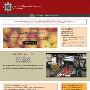 Screen capture of New Point Volunteer Fire Department website