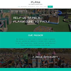 Screen capture of Paoli Playground website