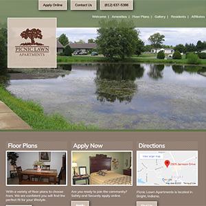 Screen capture of Picnic Lawn Apartments website