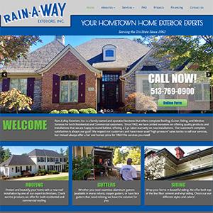 Screen capture of Rain-A-Way Inc. website