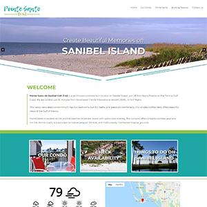 Screen capture of Sanibel Pointe website