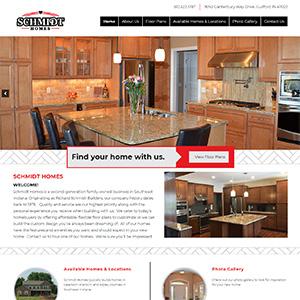 Screen capture of Schmidt Homes website