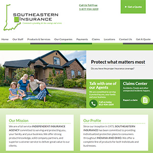 Screen capture of Southeastern Insurance website