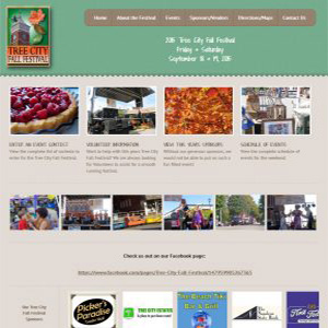 Screen capture of Tree City Fall Festival website