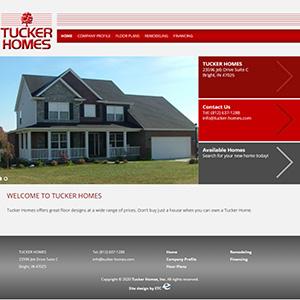 Screen capture of Tucker Homes website