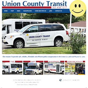 Screen capture of Union County Transit website