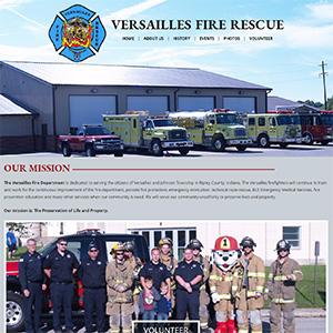 Screen capture of Versailles Fire Rescue website