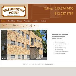 Screen capture of Washington Point Apartments website