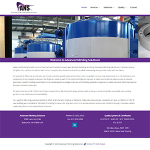 Screen capture of Advanced Nitriding Solutions website