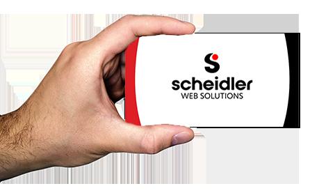 Scheidler Web Solutions business card
