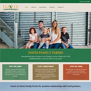 Screen capture of Davis Family Farms website