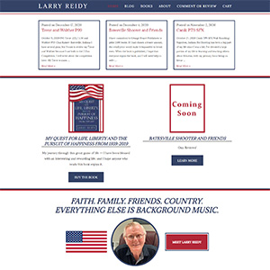 Screen capture of Larry Reidy website