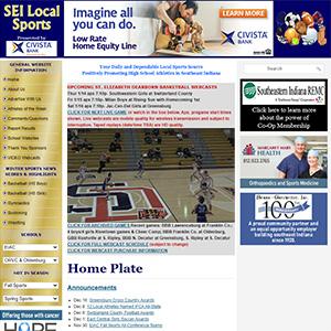 Screen capture of SEI Local Sports website