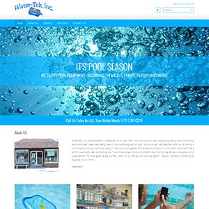 Screen capture of Water-Tek website