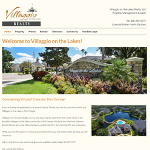 Screen capture of Villaggio on the Lakes Realty website