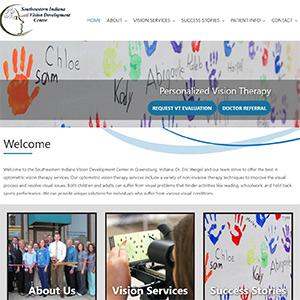Screen capture of Southeastern Indiana Vision Development Center website